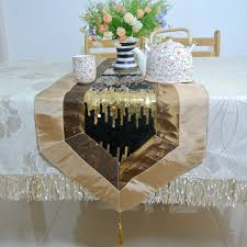 Gold Lace Table Runner Glitter Gold Tablecloth Satin Rose Table Cloth Satin Rose Table