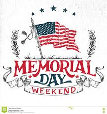Memorial Invitation Cards Memorial Day Weekend Greeting Card Stock Vector Image 71200097