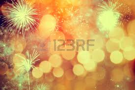 fireworks at new year background stock photo picture