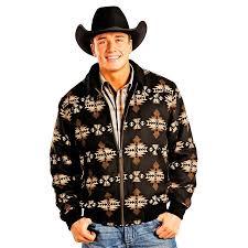 Wool Bomber Jacket Mens Powder River Outfitters Men U0027s Aztec Patterned Wool Bomber Jacket