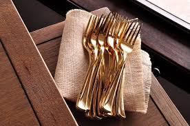 gold plastic silverware plastic gold forks 25ct plastic gold silverware that looks