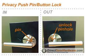 How To Unlock A Bathroom Door Knob Privacy Lock Door Hardware
