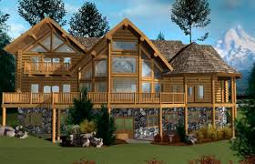 one story log cabin floor plans 3220 sqft west coast log home style log cabin home log design log