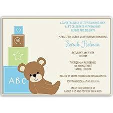teddy baby shower baby shower invitations teddy baby boy chevron