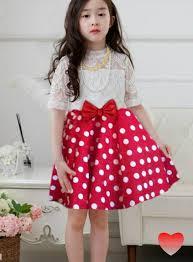 dress anak anak perempuan motif polkadot cantik model terbaru