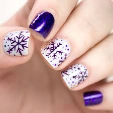 snowflakes purple christmas nail art nails pinterest purple