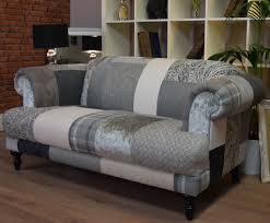 Grey Silver Sofa Aspen 2 Seater Sofa Patchwork Natural Grey Silver Out Of Stock