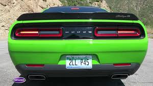 Dodge Challenger Lime Green - 2017 dodge challenger t a performance exhaust video news cars com