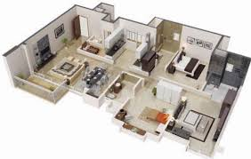 100 floor plan in 3d 4 bedroom house plan in less than 3