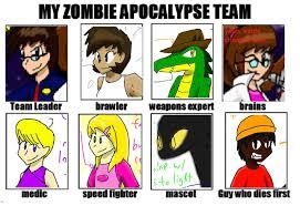 Zombie Team Meme - oc zombie apocalypse team meme by scorpomix97 on deviantart