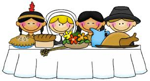 dinner pilgrims clipart