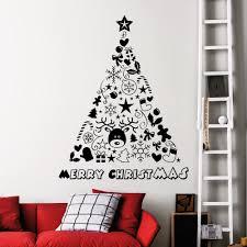 high quality vinyl window design promotion shop for high quality lovely nursery christmas wall decor vinyl art design christmas tree decoration wall sticker for home art decoration y 733