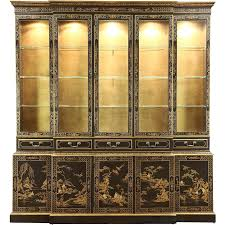 Antique Breakfront China Cabinet by Vintage Drexel Heritage China Cabinet Bar Cabinet