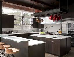 industrial kitchen cabinets kitchen modern with ceiling lighting