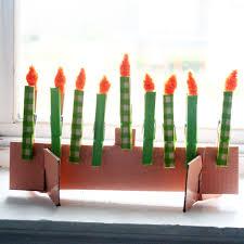 unique menorah hanukkah menorah craft for kids and crafters
