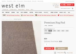 Pottery Barn Persian Rugs by Decoratin Your Pottery Barn Rug Pad On Persian Rugs Floor Rugs