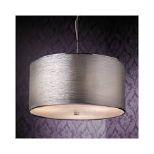 silver pendant light shade endon rebolo 3ch pendant ceiling light in chrome with silver shade