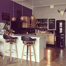 Single Wall Kitchen With Island Kitchen Stunning U Shaped Purple 2017 Kitchen Ideas Plus Polka
