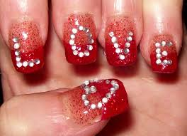 l o v e nails valentine u0027s day design youtube