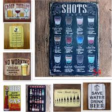 online shop shots menu vintage tin signs 20 30 shabby chic home