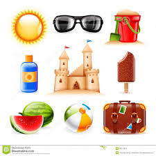 summer and icons stock vector illustration of chocolate