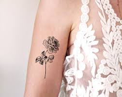 large floral temporary tattoo rose temporary tattoo flower