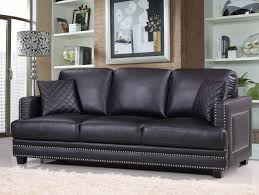 chair adorable nailhead sofa leather trim furniture chair with
