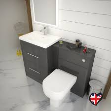 Bathroom Furniture Store Patello 1200 Bathroom Furniture Set Grey Buy At Bathroom City