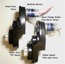 power wheels jeep hurricane modifications stage i speed motors gearboxes for jeep hurricanes