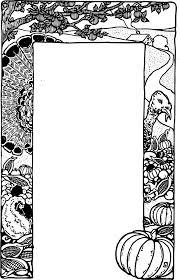 thanksgiving border clip black and white clipartsgram