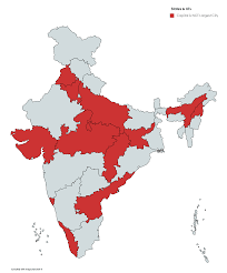 indian states whose capital is not their largest city 3818x4600