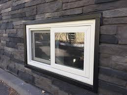 stylish sliding basement windows make vinyl sliding basement