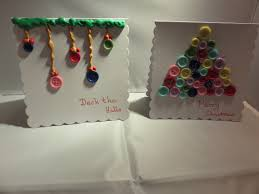 kids button christmas card crafts