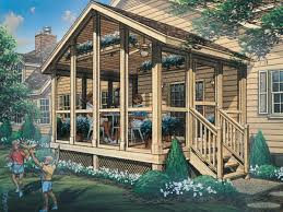 Garage With Screened Porch Autumn Breeze Screened Porch Plan 002d 7502 House Plans And More