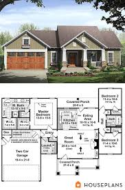 small house floor plans with porches small bungalow house plan with master suite 1500sft house