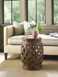 decorative tables for living room bali hai hibiscus round accent table lexington home brands