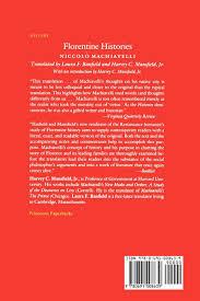 florentine histories niccolò machiavelli laura f banfield