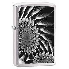 zippo design zippo lighter metal abstract design brushed chrome 29061