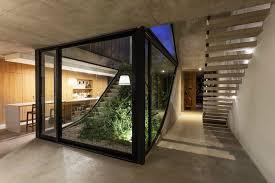 Interior Garden House Eco Friendly House Built Around A Vertical Garden