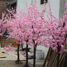 outdoor lighted cherry blossom tree large outdoor artificial decorative tree fake cherry blossom trees