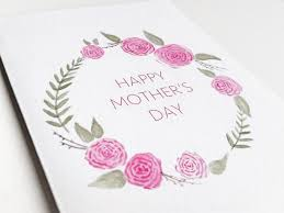 Mother Day Card by Pretty Flower Mother U0027s Day Card Watercolor Flower Mother U0027s Day
