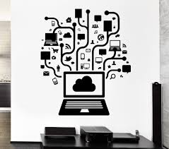 popular wall design stickers buy cheap lots creative computer social network game internet teen art vinyl design wall sticker home room decor pvc