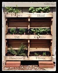 Diy Vertical Pallet Garden - vertical pallet herb garden inspiration diy