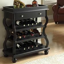 acme furniture cecilia bombay wine rack with 1 drawer
