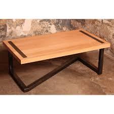 Table Acier Bois Industriel by Table Basse Ronde Acier Et Bois U2013 Phaichi Com