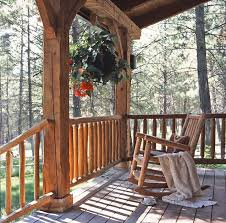 cabin porch jack hanna s log cabin front porch hooked on houses
