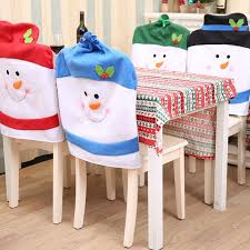 snowman chair covers 4pcs set snowman chair cover set cap christmas hats dinner