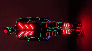 Halloween Light Up Costumes Neon Light Suit For Sale Led Costume Tron Light Suit Led Tron