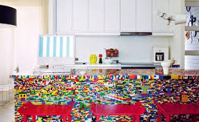 colorful kitchen islands this colorful kitchen island is made with 20 000 lego pieces