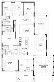 lovely 4 bedroom floor plans for a house new home plans design